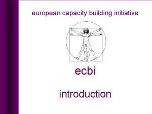 european capacity building initiative introduction european capacity building