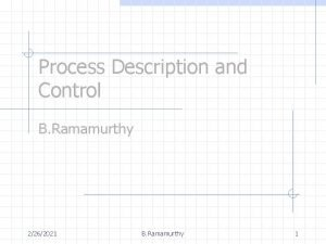 Process Description and Control B Ramamurthy 2262021 B