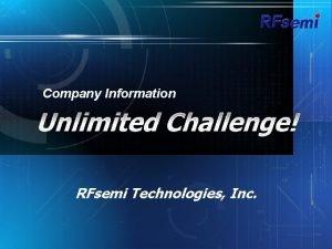 Company Information RFsemi Technologies Inc Company Profile Overview