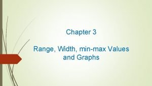 Chapter 3 Range Width minmax Values and Graphs