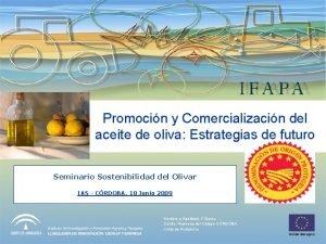 Promocin y Comercializacin del aceite de oliva Estrategias