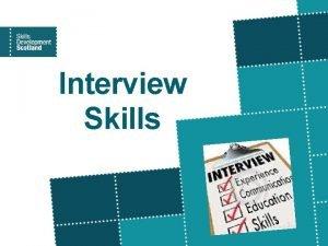 Interview Skills Career Management Skills Career Management Skills
