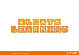 Ch 1 1 Copyright 2011 Pearson Education Strategic