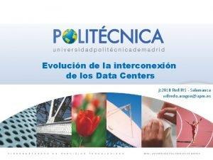 Evolucin de la interconexin de los Data Centers