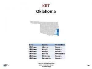 KRT Oklahoma State Oklahoma Oklahoma County Choctaw Haskell