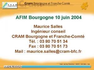 AFIM Bourgogne 10 juin 2004 Maurice Salles Ingnieur