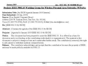 January 2019 doc IEEE 802 15 19 0008