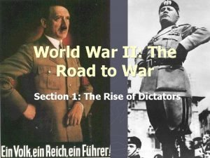 World War II The Road to War Section