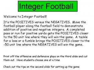 Integer Football Welcome to Integer Football Its the