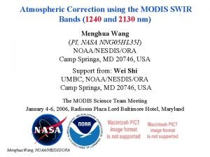 Atmospheric Correction using the MODIS SWIR Bands 1240