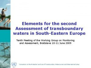 Elements for the second Assessment of transboundary waters