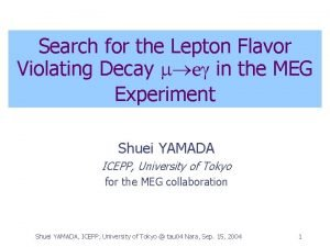 Search for the Lepton Flavor Violating Decay m
