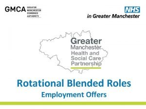 Rotational Blended Roles Employment Offers Rotational Blended Roles