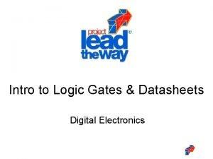 Intro to Logic Gates Datasheets Digital Electronics Intro