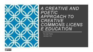 A CREATIVE AND POETIC APPROACH TO CREATIVE COMMONS