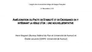 Congrs des conomistes belges de langue franaise 26