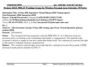 September 2020 doc IEEE 802 15 20 0271