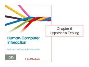 Chapter 6 Hypothesis Testing What is Hypothesis Testing