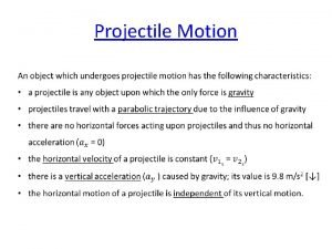 Projectile Motion Projectile Motion Simulator Horizontal x Vertical