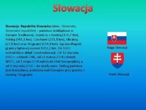 Sowacja Republika Sowacka sow Slovensko Slovensk republika pastwo