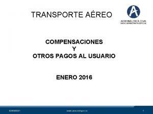TRANSPORTE AREO COMPENSACIONES Y OTROS PAGOS AL USUARIO