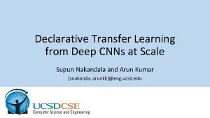 Declarative Transfer Learning from Deep CNNs at Scale
