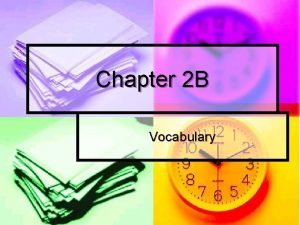 Chapter 2 B Vocabulary To talk about shopping