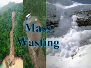 Mass Wasting WHAT IS MASS WASTING Mass wasting