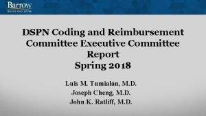 DSPN Coding and Reimbursement Committee Executive Committee Report