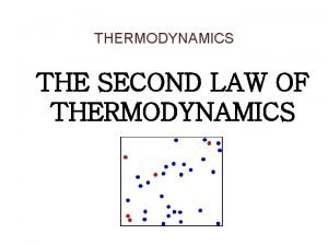 THERMODYNAMICS THE SECOND LAW OF THERMODYNAMICS INTRODUCTION TO