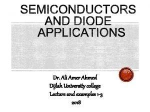 Dr Ali Amer Ahmed Dijlah University college Lecture