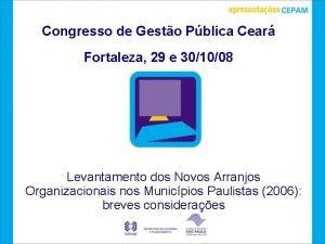 Congresso de Gesto Pblica Cear Fortaleza 29 e