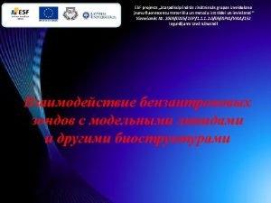 ESF projekts Starpdisciplinrs zintnisks grupas izveidoana jaunu fluorescentu