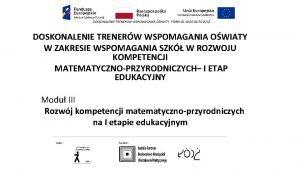 DOSKONALENIE TRENERW WSPOMAGANIA OWIATY POWR 02 10 00