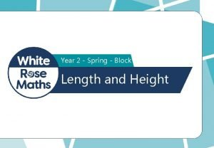 Year 2 Spring Block 5 Length and Height