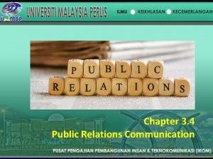 Chapter 3 4 Public Relations Communication Public Relations