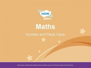 Maths Number and Place Value Year One Maths