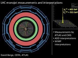 LHC monojet measurements and interpretations Measurements by ATLAS