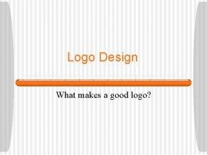 Logo Design What makes a good logo What