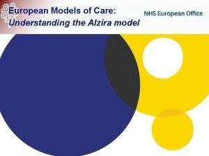 European Models of Care Understanding the Alzira model