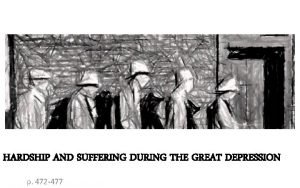 HARDSHIP AND SUFFERING DURING THE GREAT DEPRESSION p