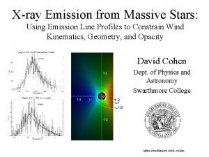 Xray Emission from Massive Stars Using Emission Line