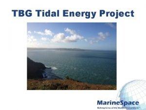 TBG Tidal Energy Project Marine EIA Process Environmental