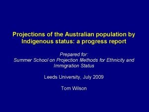 Projections of the Australian population by Indigenous status