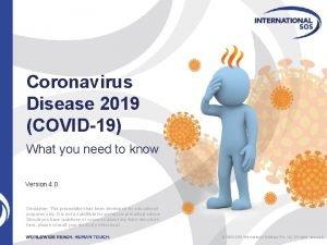 Coronavirus Disease 2019 COVID19 What you need to