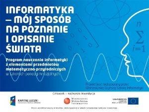 Andrzej Majkowski informatyka 1 Klasyczne szyfry podstawieniowe Szyfr