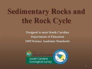 Sedimentary Rocks and the Rock Cycle Designed to