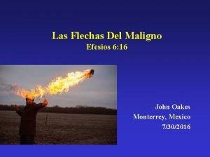 Las Flechas Del Maligno Efesios 6 16 John