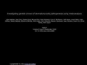 Investigating genetic drivers of dermatomyositis pathogenesis using metaanalysis