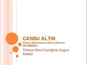 CANSU ALTIN TRKE RETMENLII RGN RETIM 20110904010 Trke